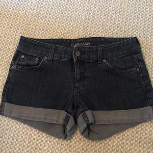 CARMAR Cuffed & Dark Wash Denim Shorts